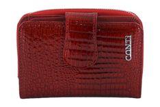 Ekskluzywne portfele damskie lakierowane - Czerwone