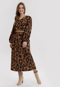Panterkowa Sukienka Wooddust