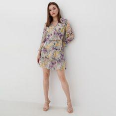 Mohito - Szyfonowa sukienka w kwiaty Eco Aware - Beżowy