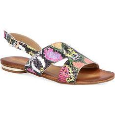 Sandały damskie Nicole skórzane bez obcasa