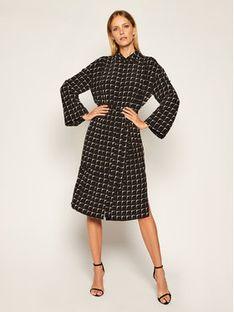 TwinSet Sukienka koszulowa 202ST2501 Czarny Regular Fit