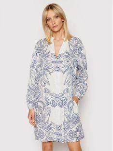 Marc O'Polo Sukienka koszulowa M04 1491 21195 Biały Relaxed Fit