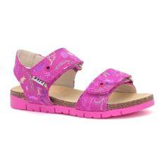 Sandały Bartek W-76183/aba, Dla Dziewcząt, Różowy