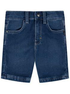 Boss Szorty jeansowe J04373 M Granatowy Regular Fit