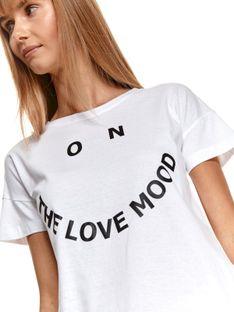 Luźny t-shirt w nadrukiem