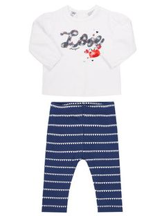 Primigi Komplet bluzka i legginsy Ocean Drive 45196511 Kolorowy Regular Fit