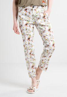 Desigual - Spodnie materiałowe - biały