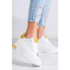 Buty sportowe damskie CzasNaButy sneakersy białe sznurowane