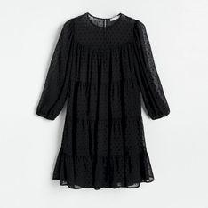 Reserved - Sukienka z lekkiej tkaniny - Czarny