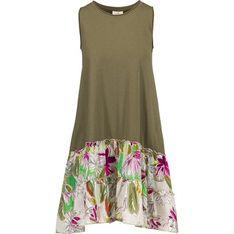 Sukienka Deha bez rękawów zielona mini z okrągłym dekoltem