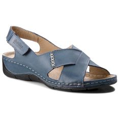 Sandały HELIOS - 229-1 Granat