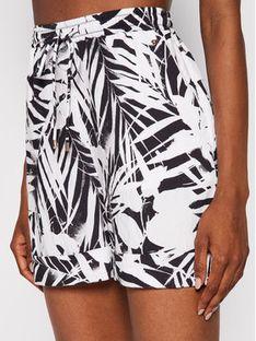 Tommy Hilfiger Szorty materiałowe Palm Print Pull On WW0WW31300 Biały Loose Fit
