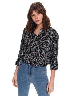Koszula damska w drobne kwiaty