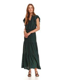 Ażurowa sukienka maxi