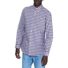Koszula męska Polo Ralph Lauren w kratkę z kołnierzykiem button down z długim rękawem casual na jesień