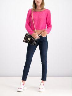 Pinko Sweter AI 19-20 BLK01 1G14D3 Y5Q6 Różowy Regular Fit