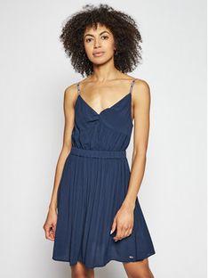 Tommy Jeans Sukienka letnia Essential DW0DW09934 Granatowy Slim Fit