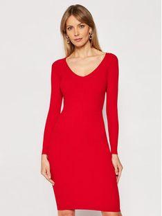 Silvian Heach Sukienka dzianinowa A Costine PGP21232VE Czerwony Extra Slim Fit