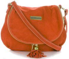 Uniwersalna Torebka Skórzana na każdą okazję firmy Vittoria Gotti Pomarańczowa (kolory)