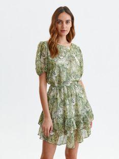 Sukienka z falbaną i gumką w talii
