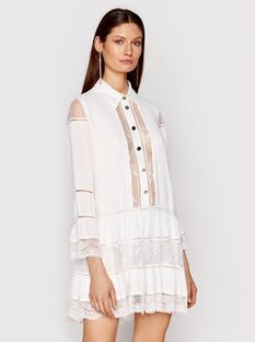 Babylon Sukienka koszulowa N_EL0701 Biały Regular Fit