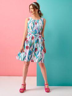 Zwiewna sukienka w kwiaty Smashed Lemon 20121