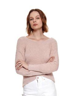 Sweter damski z okrągłym dekoltem