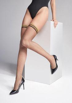 Błyszczące Samonośne Pończochy Kabaretki Coco S12 Marilyn