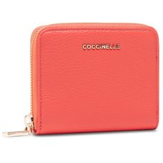 Mały Portfel Damski COCCINELLE - HW5 Mettallic Soft E2 HW5 11 A2 01 Coral Red R34
