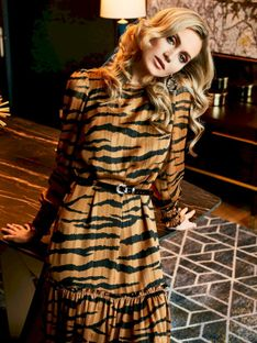 Zwiewna sukienka z motywem zwierzęcym Potis & Verso FIONA