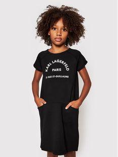 KARL LAGERFELD Sukienka codzienna Z12171 S Czarny Regular Fit