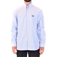 Koszula męska Calvin Klein z długimi rękawami niebieska z kołnierzykiem button down