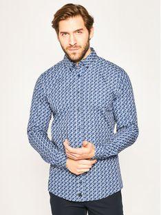 Strellson Koszula Core 30020196 Granatowy Regular Fit