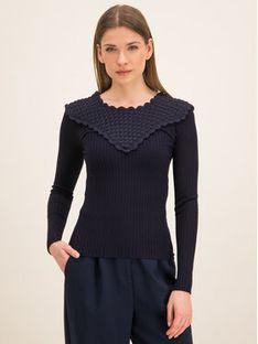 Sportmax Code Sweter 73660496 Granatowy Slim Fit