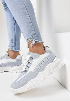 Biało-Błękitne Sneakersy Nelera