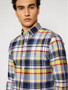Polo Ralph Lauren Koszula Oxford 710844537004 Żółty Slim Fit