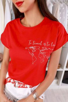 T-shirt damski NILMA RED