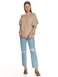 Sweter długi rękaw damski  z zamkiem luźny