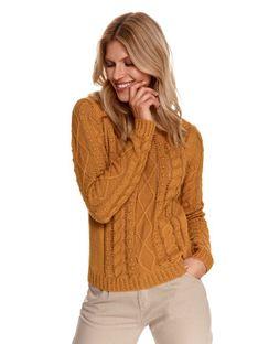 Damski ażurowy sweter