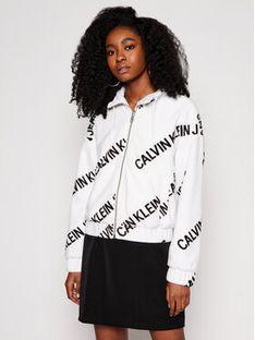Calvin Klein Jeans Kurtka przejściowa J20J216341 Biały Regular Fit