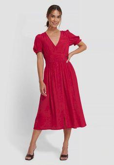 NA-KD - Długa sukienka - czerwony