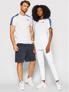Fila T-Shirt Unisex Thanos 687700 Biały Regular Fit