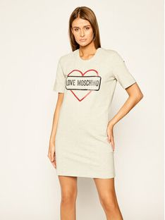 LOVE MOSCHINO Sukienka codzienna W5A0206E 2017 Szary Regular Fit