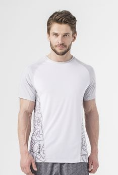 T-shirt biały / countour