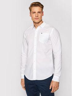 Tommy Jeans Koszula DM0DM04406 Biały Regular Fit
