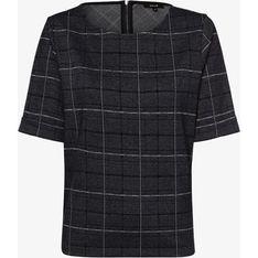 Bluza damska Opus krótka na jesień w kratkę casual