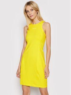 Calvin Klein Jeans Sukienka codzienna J20J216265 Żółty Slim Fit