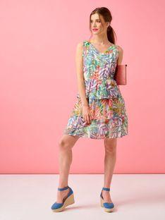 Sukienka z stopniowanymi falbanami Smashed Lemon 20122