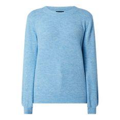 Sweter damski Pieces z elastanu z okrągłym dekoltem