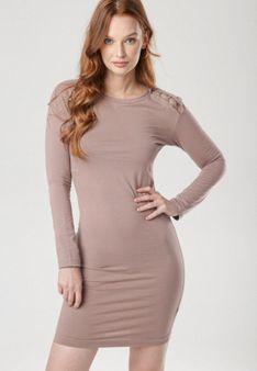 Ciemnobeżowa Sukienka Vivithia